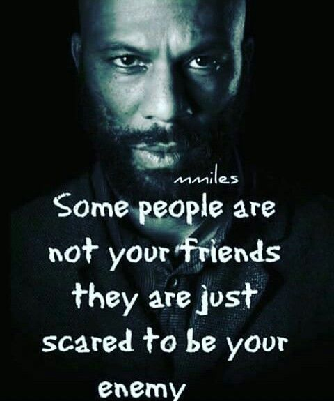 Some People Are Not Your Friends They Are Just To Scared To Be Your