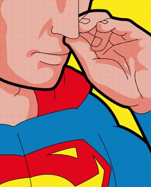 Even Superman Has To Pick His Nose Now And Then Pop Art