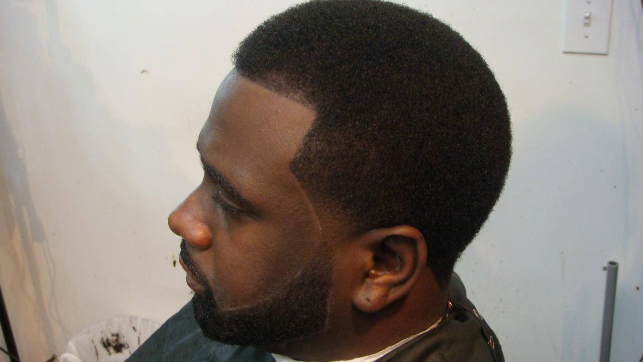 fade haircut designs for black men barber shop