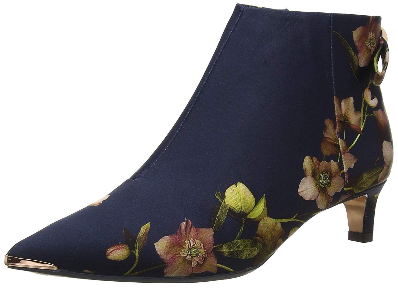 502fa3f56d344 Ted Baker Women's Amaedi Ankle Boots, Blue (Navy Arboretem NVY ...