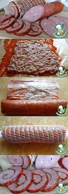 Колбаса говяже-куриная - кулинарный рецепт