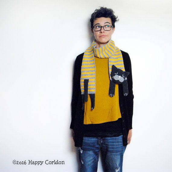 CROCHET PATTERN  Cat scarf by HappyCoridon on Etsy