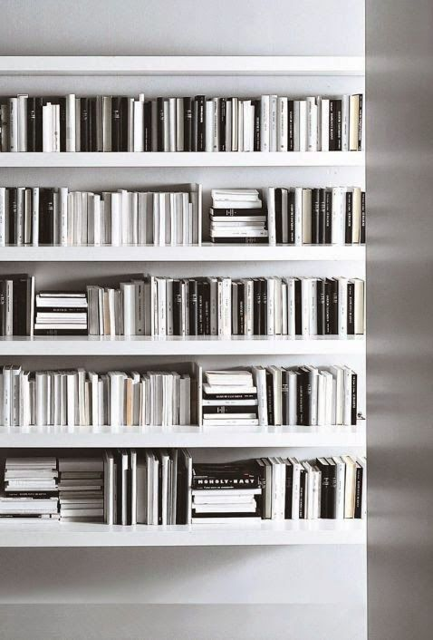 Black White Bookshelf