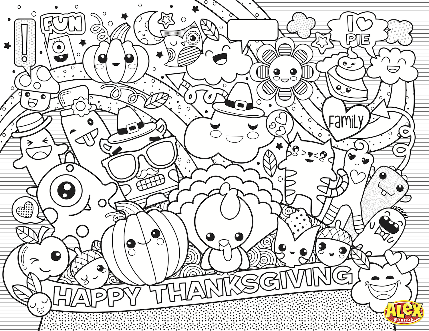 Thanksgiving Coloring Pages Thanksgiving placemats