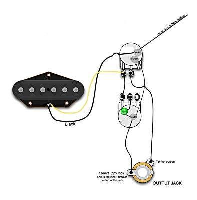 Single pickup guitar wiring diagram | Homemade Guitars | Guitar tuners, Cigar box guitar plans