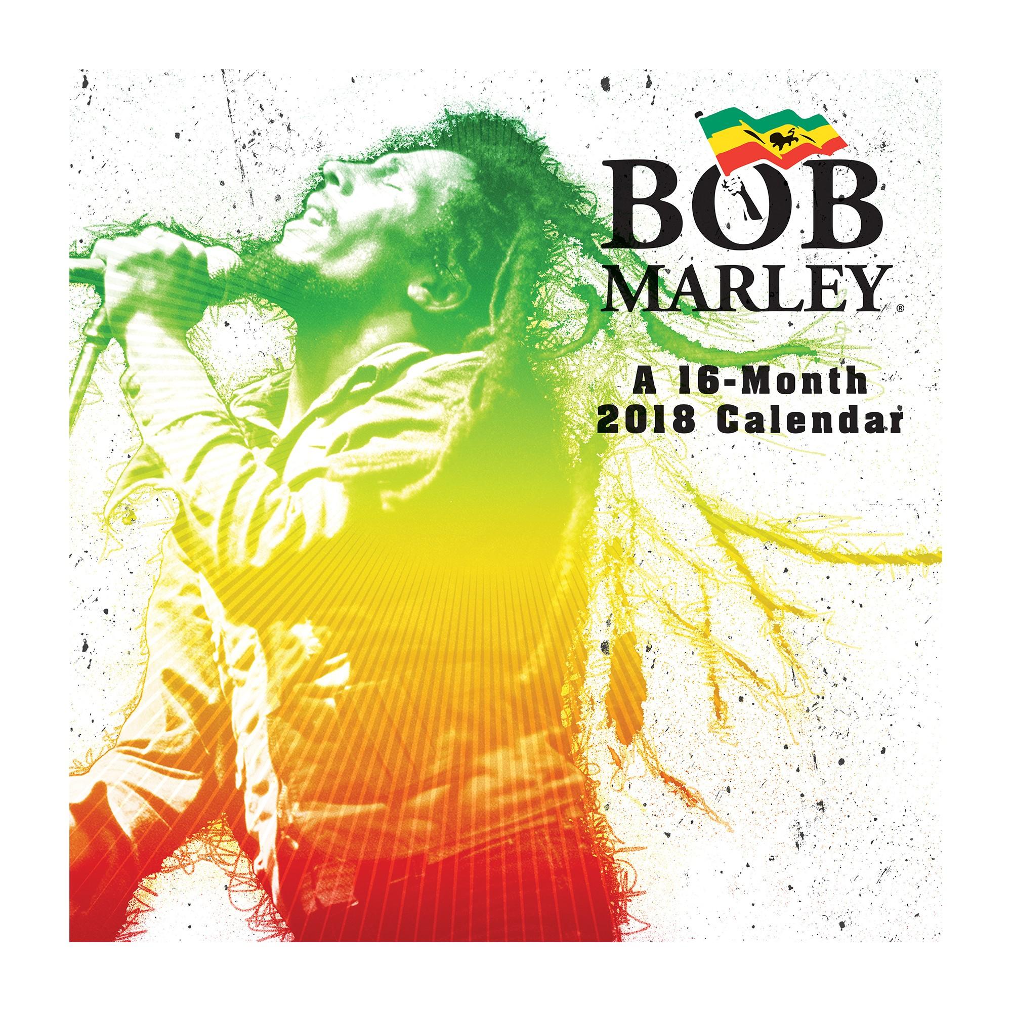 Bob Marley 2018 Wall Calendar - Trends International, | Bob marley ...