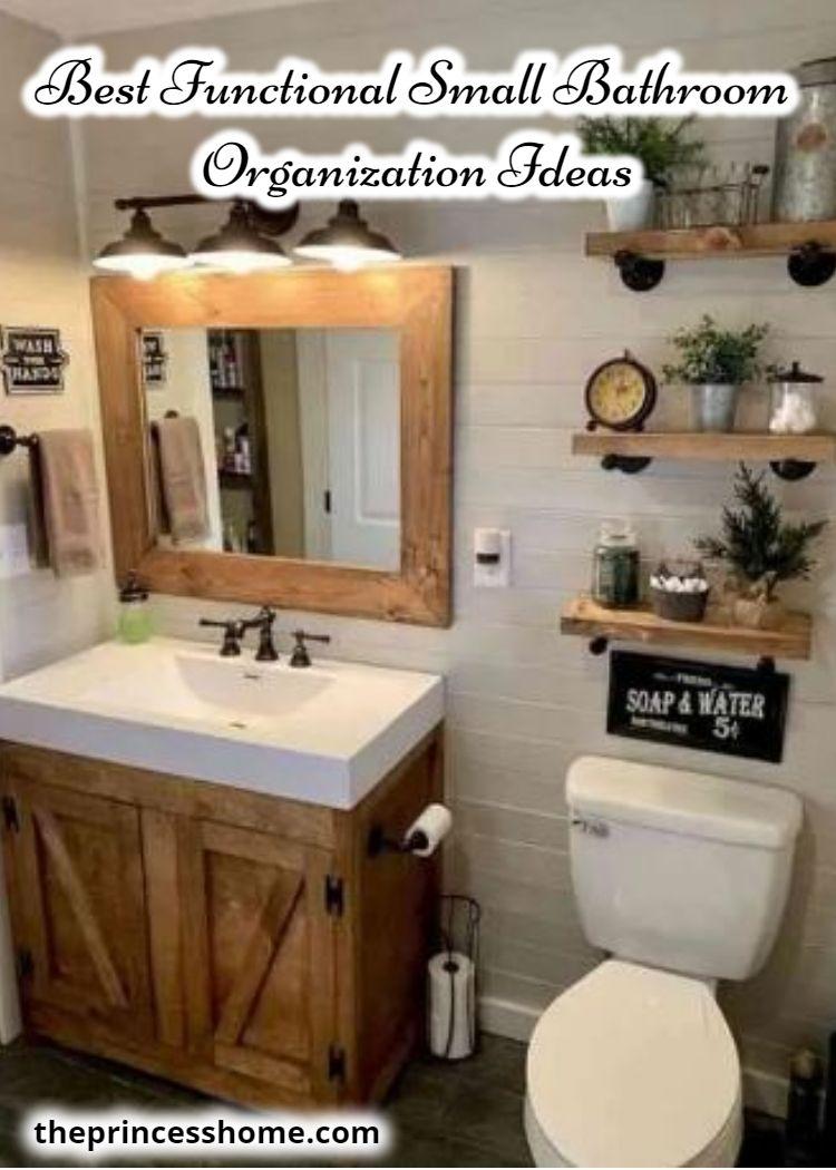 Best Functional Small Bathroom Organization Ideas