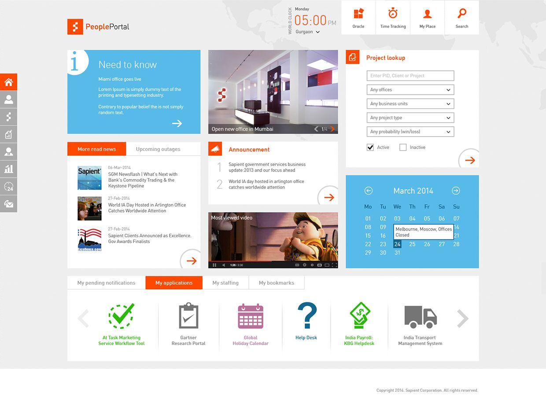 Sharepoint intranet on behance intranet designs for Portale design