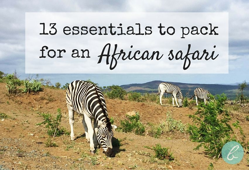 13 Essentials To Pack for an African Safari African