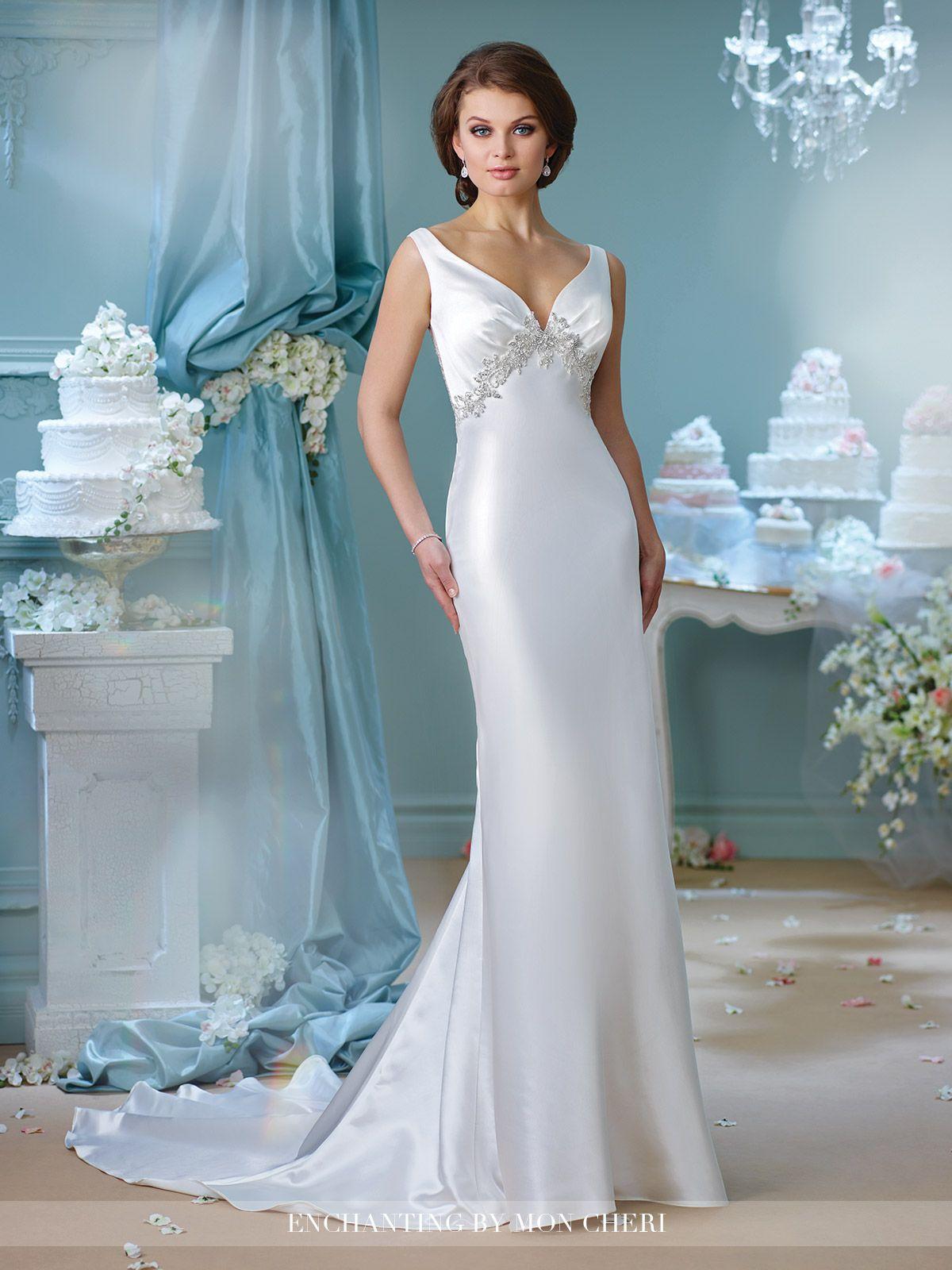 Hand Beaded Tumpet Wedding Dress- 216165- Enchanting by Mon Cheri ...