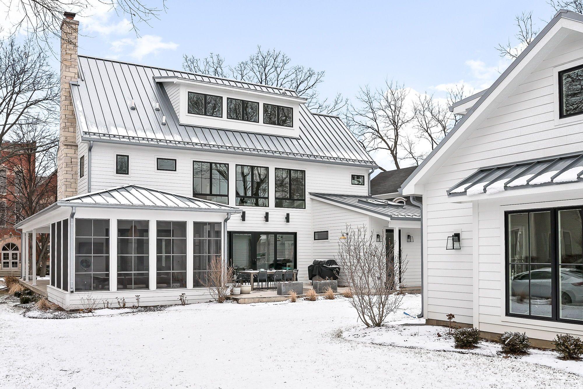 Scandinavian Farmhouse Home Naperville Historic District Modern Farmhouse Exterior Modern House Farmhouse Exterior