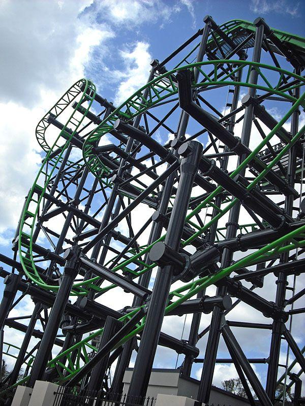 Green Lantern Coaster Warner Bros Movie World Australia