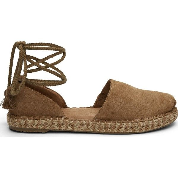 d711839ca78a TOMS Toffee Suede Women s Katalina Espadrilles Shoes ( 85) ❤ liked on  Polyvore featuring shoes