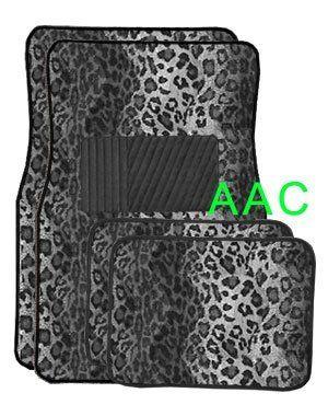 A Set Of 4 Universal Fit Animal Print Carpet Floor Mats For Cars Truck Snow Leopard Animal Print Carpet Car Floor Mats Printed Carpet