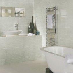 Modena White Tiles 600mm X 297mm Small Bathroom Tiles Bathroom Wall Tile Cream Bathroom