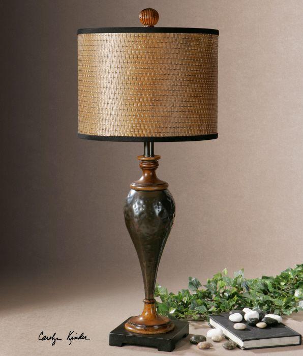 Uttermost Javini Metal Table Lamp Hammered Metal In An