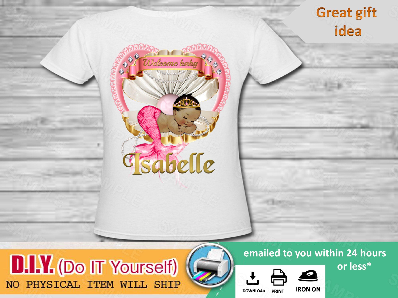 Baby Shower Shirt Baby Shower Baby Mermaid Baby Shirt Custom Iron