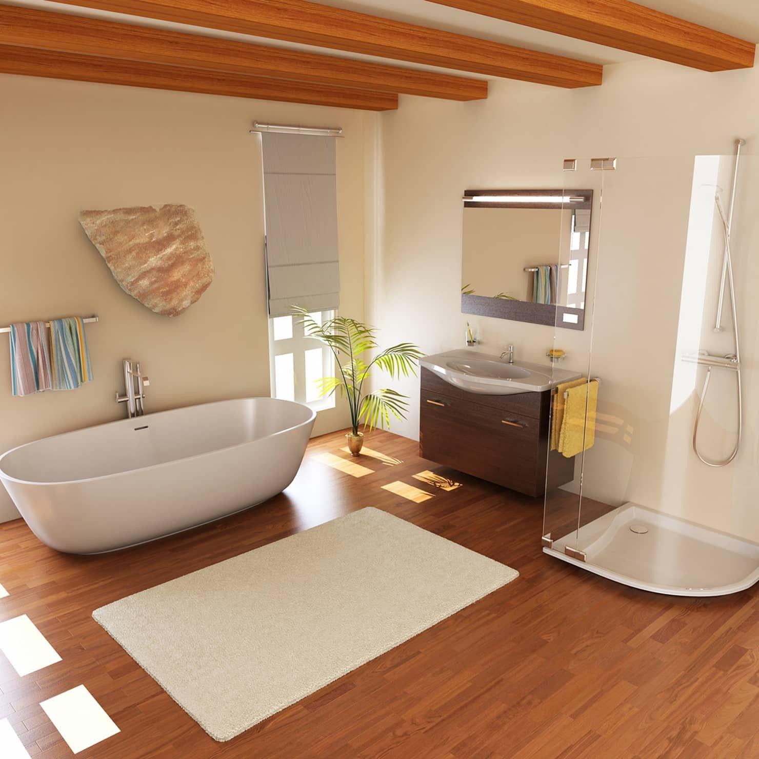 Modern Bathroom By Ali Cura Modern Bathroom Design Small Laminate Flooring Bathroom Wood Look Tile