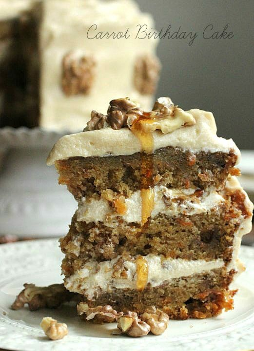 Carrot Birthday Cake with Maple Cream Cheese Frosting from Vintage