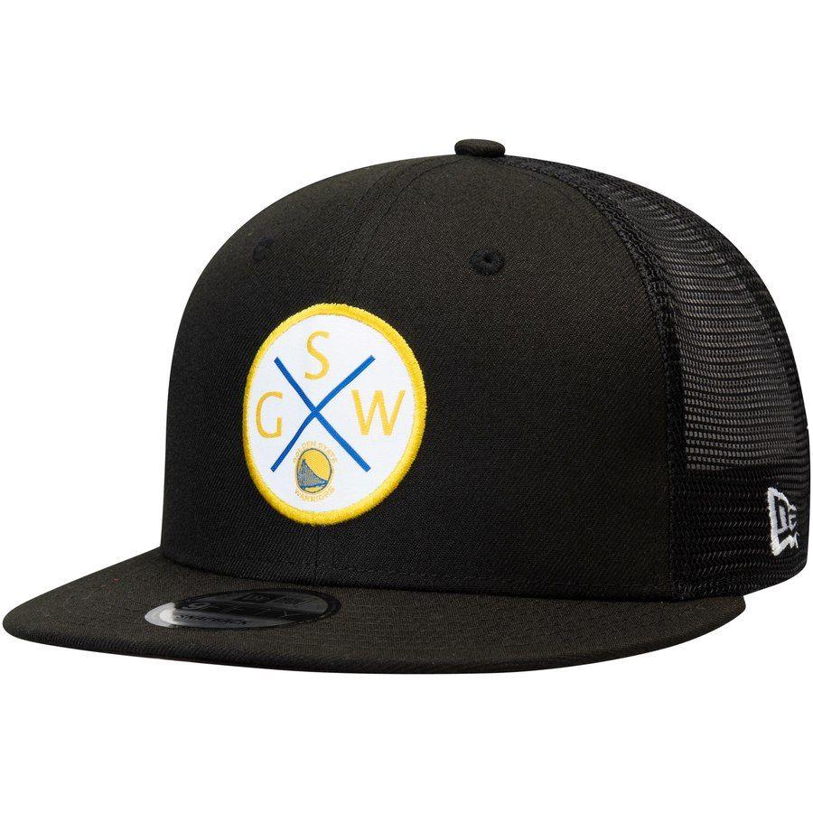 sports shoes 209de 02d4a Men s Golden State Warriors New Era Black Vert Trucker 9FIFTY Snapback Hat,  Your Price   31.99
