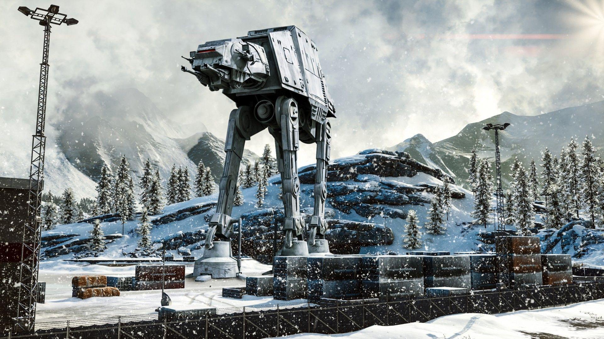 At At Walker Star Wars Winter Snow Hd Star Wars Wallpaper Walker Wallpaper Star Wars Art