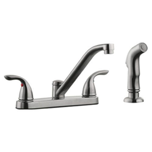 Design House 525055 Ashland Low Arch Kitchen Faucet With Sprayer