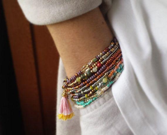 Kokopelli Combo Beaded Wrap Bracelets - Choose One or All Three