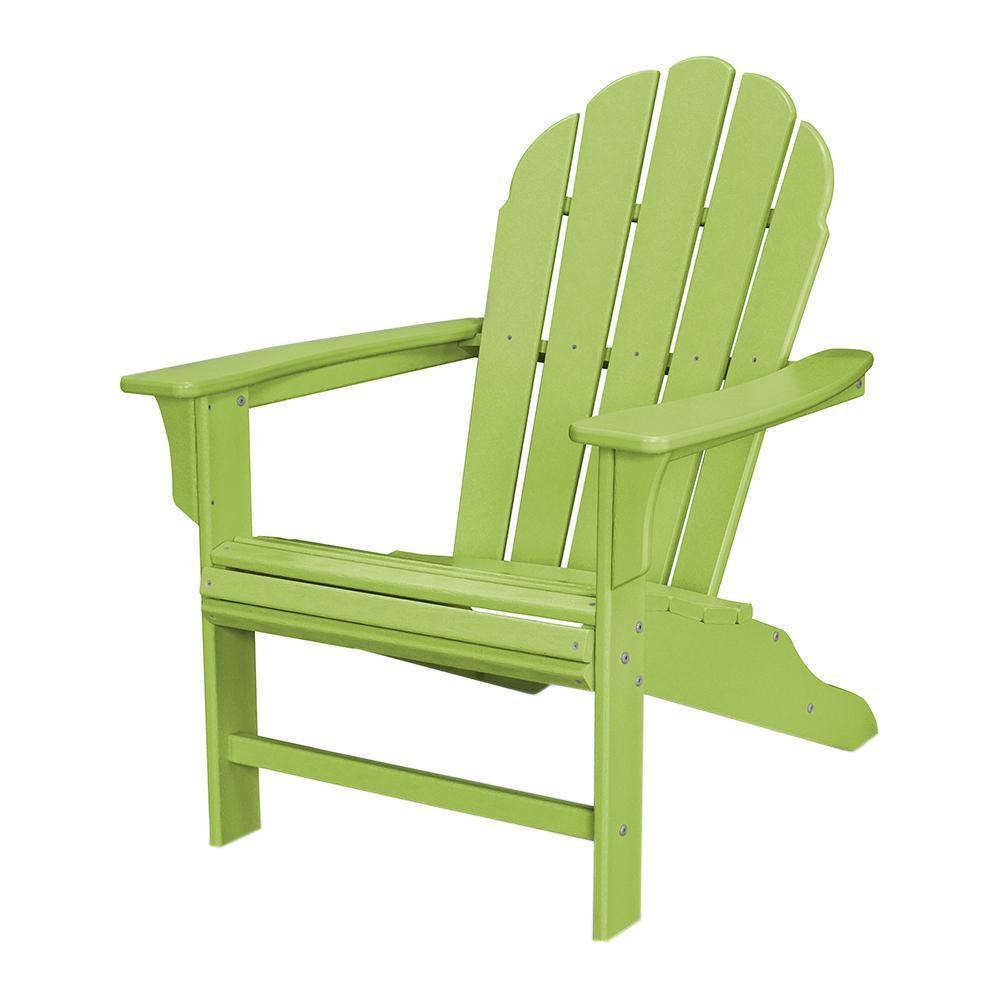 Trex Outdoor Furniture Hd Lime Plastic Patio Adirondack Chair
