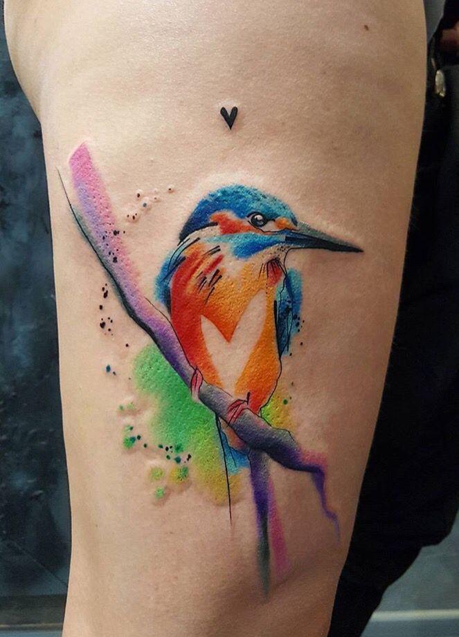 Simona Blanar Watercolor bird tattoo | Eastern Europe, wow ...