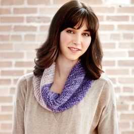 Patons Misty Cowl on the Bias