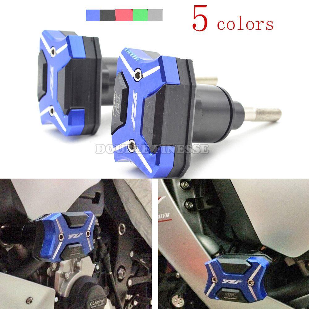 Motorcycle Frame Sliders Crash Engine Guard protection Pad Aluminium ...