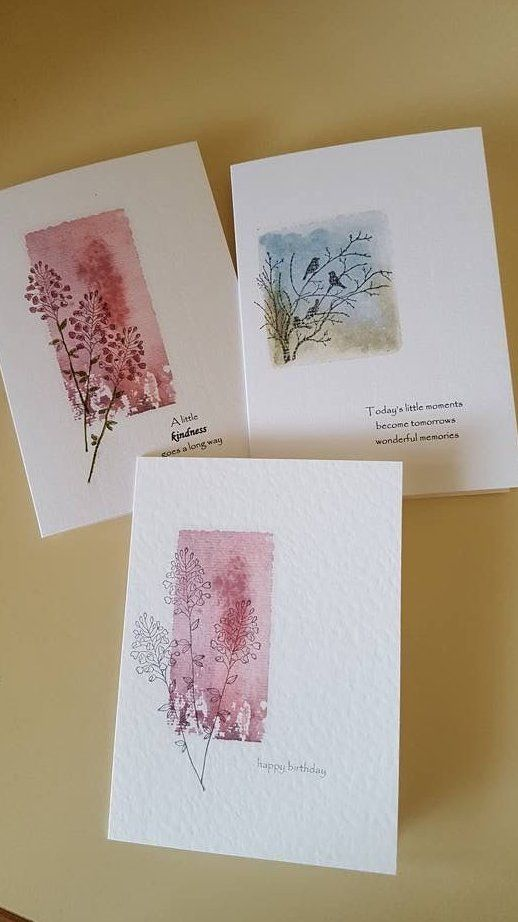 layered stamping cards