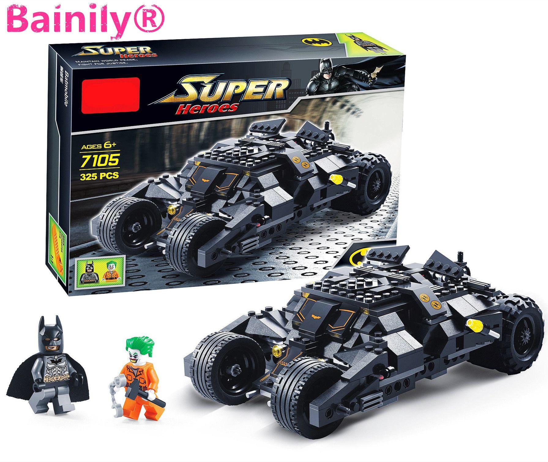 bainily super heroe batman race truck car model technic. Black Bedroom Furniture Sets. Home Design Ideas