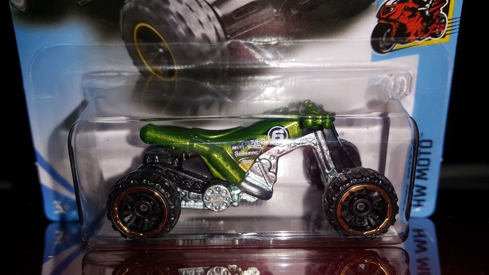 Hot Wheels 2018 Moto 2 5 Quad Rod Green Hotwheels With Images