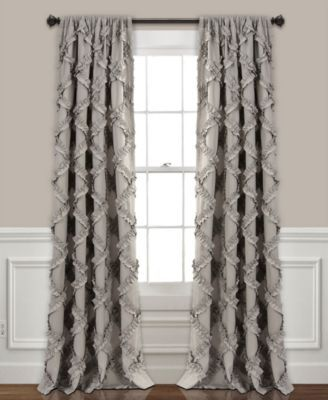 Lush Decor Ruffle Diamond 54 X 84 Curtain Set Reviews Window Treatments Blinds Macy S Window Curtains
