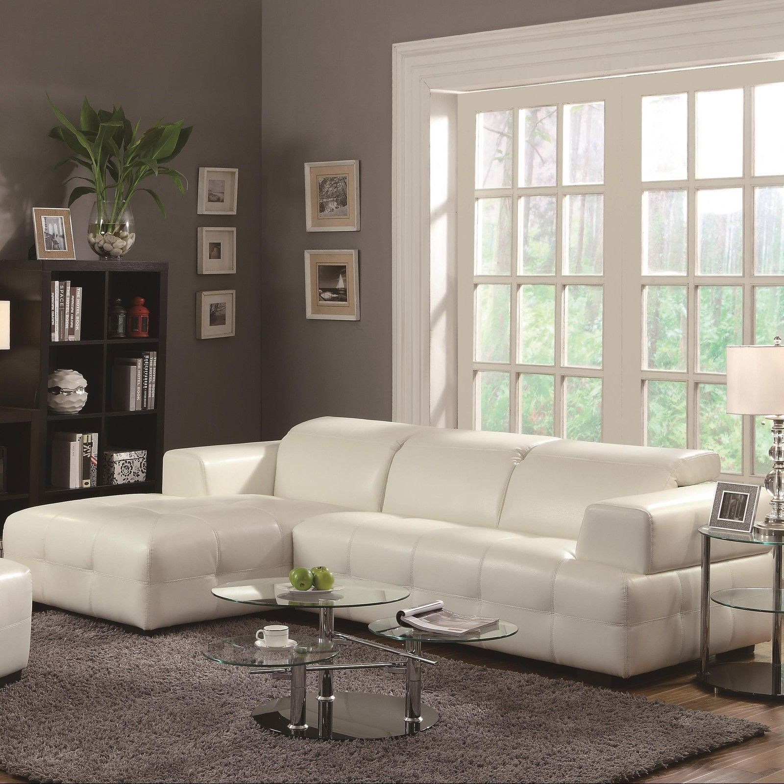 Darby Contemporary Sectional Sofa with Wide Chaise and Adjustable