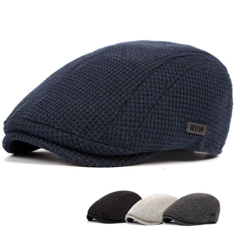 Mens Cotton Gatsby Flat Beret Cap Ivy Hat Golf Hunting Driving Cabbie Hat e775387232ef
