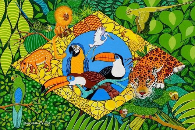 Aquarela Do Brasil Gal Costa Brazil Art Flag Art Pop Art