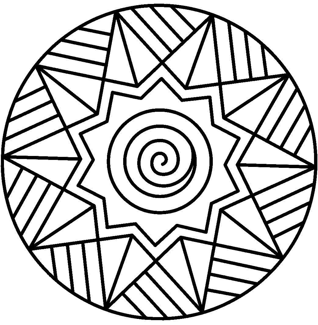 Abstract Coloring Pages Easy Coloring Pages Geometric Coloring Pages Mandala Colo In 2020 Geometric Coloring Pages Easy Coloring Pages Abstract Coloring Pages