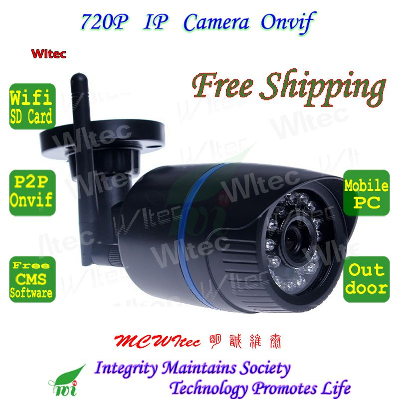 Support SD Card WIFI 720P IR Outdoor Bullet Camera | IP