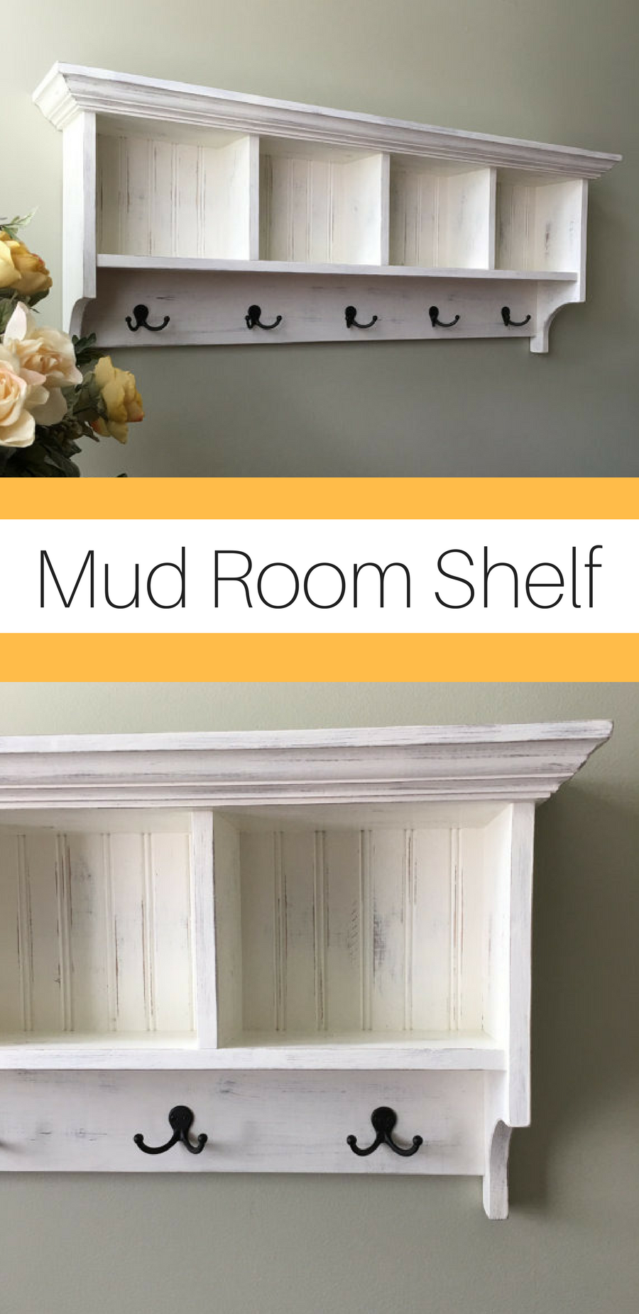 This Wall Shelf Is A Great Organizer For The Mudroom Family Room Or Kids Room Use The Cubbies For Gloves Keys Hats Books To Shelves Wall Shelves Mudroom