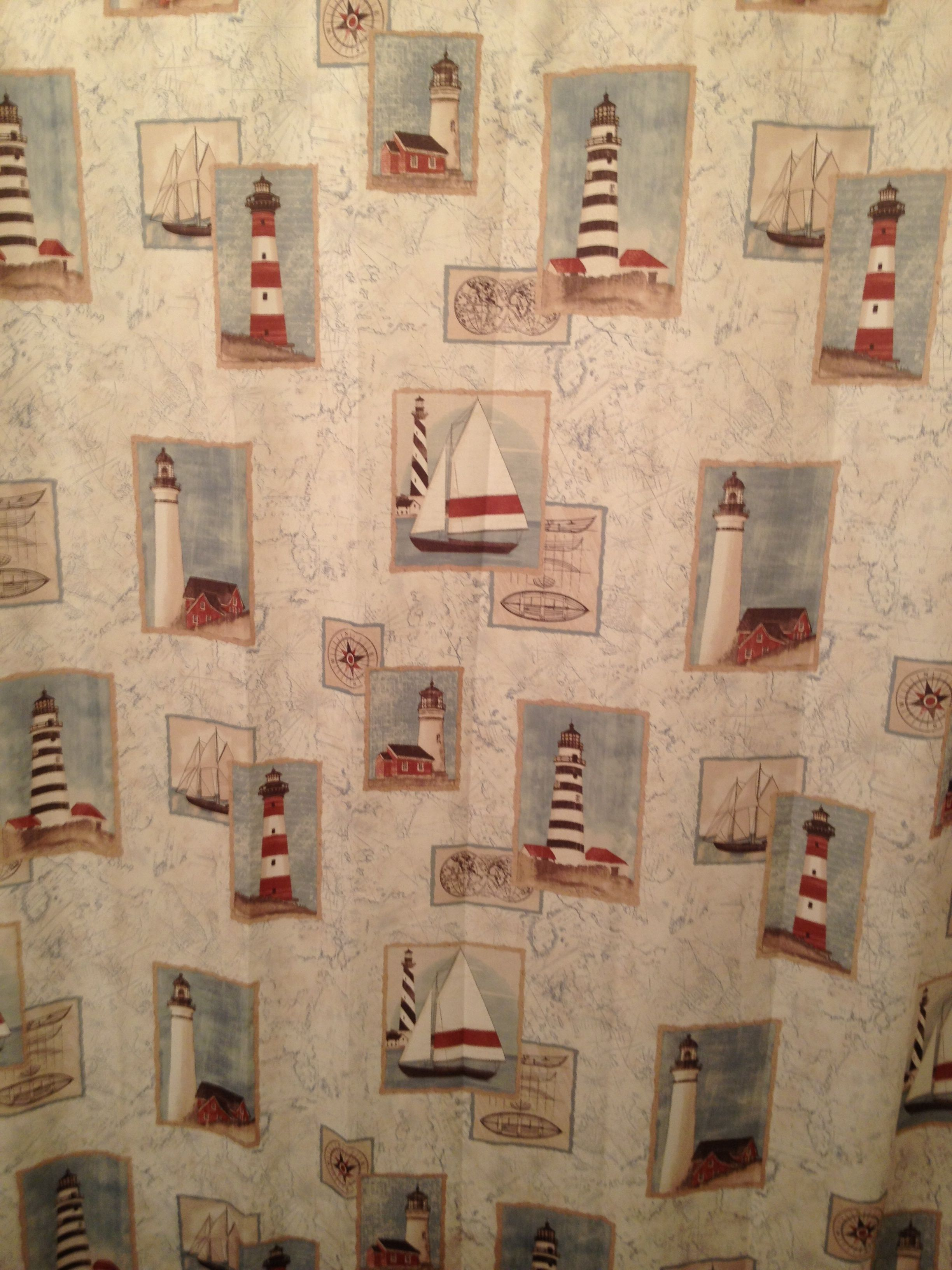 Exceptional Lighthouse Shower Curtain   Guest Bathroom