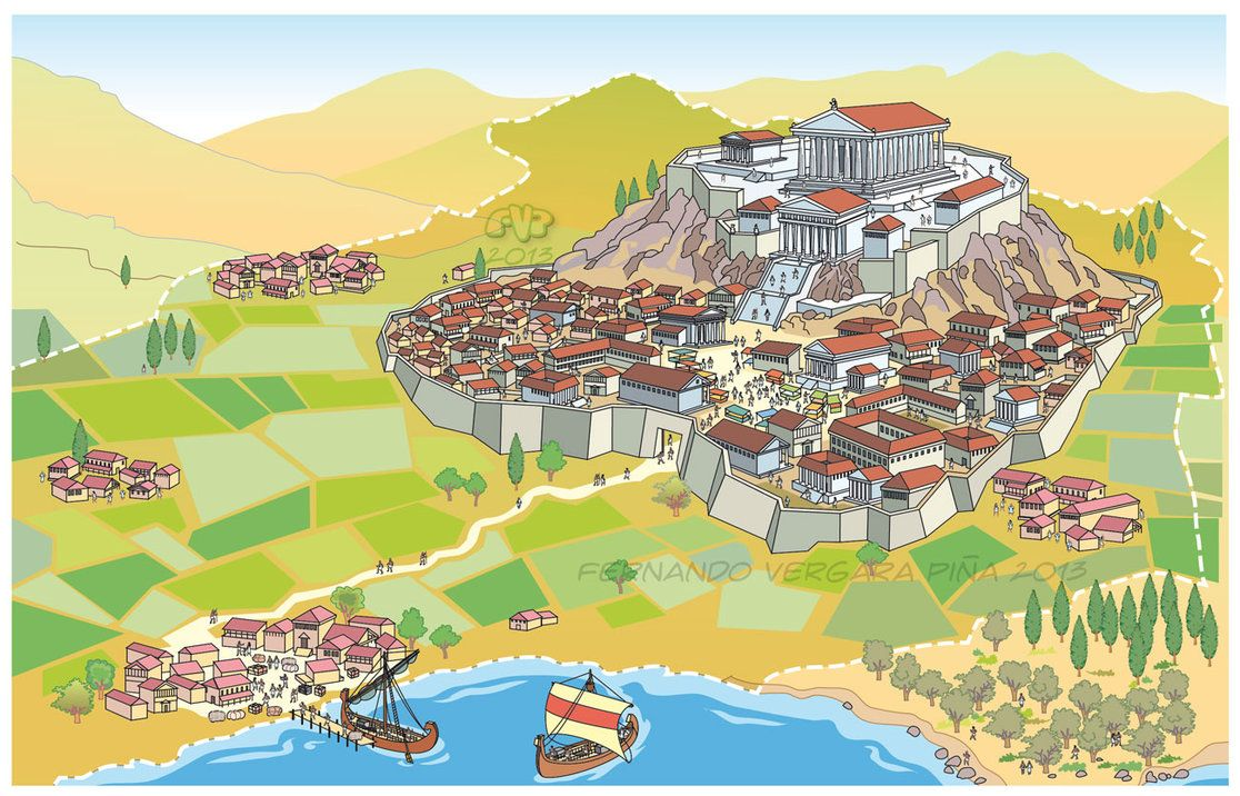 Greek Polis | Ancient greek Polis by Tripio | School/ Tutoring ...