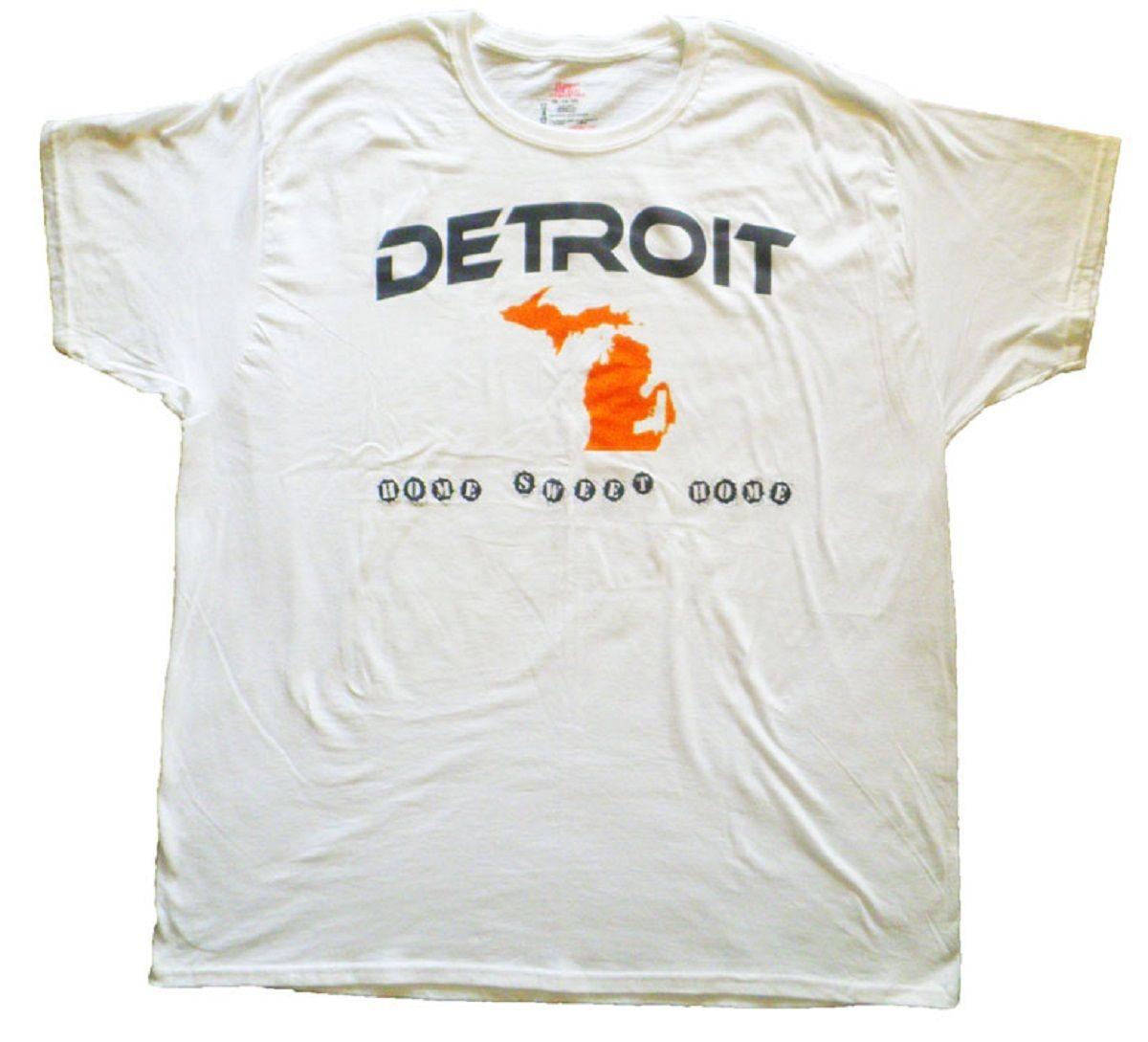 0807338db Detroit Home Sweet Home Gun T-Shirt | UScustomInk.com | Shirts, T ...
