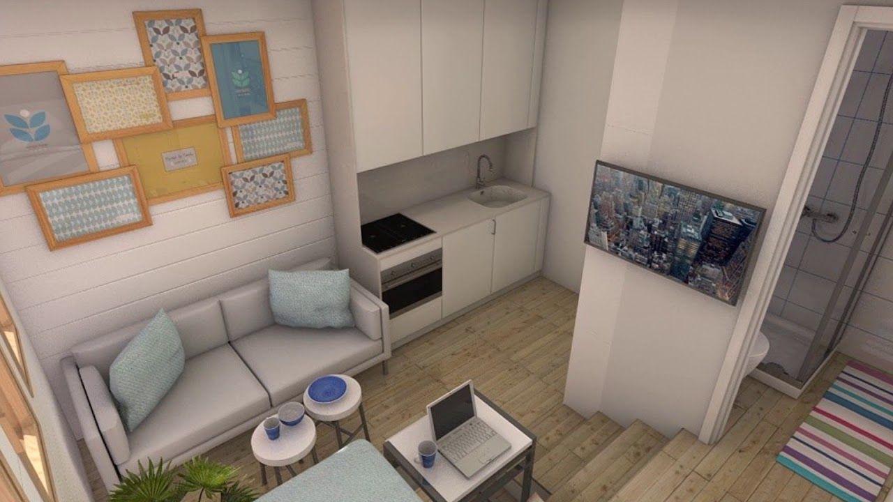 Minipiso 16m2 Piso De Estudiante Piso De Estudiantes Mini Piso Apartamentos Pequeños