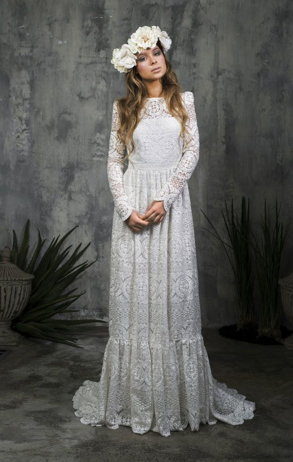 Alicia Rueda Bridal #tznius   Modest (tznius) Wedding Gowns ...