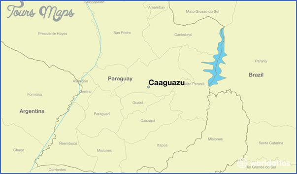 awesome Caaguazu Map Paraguay