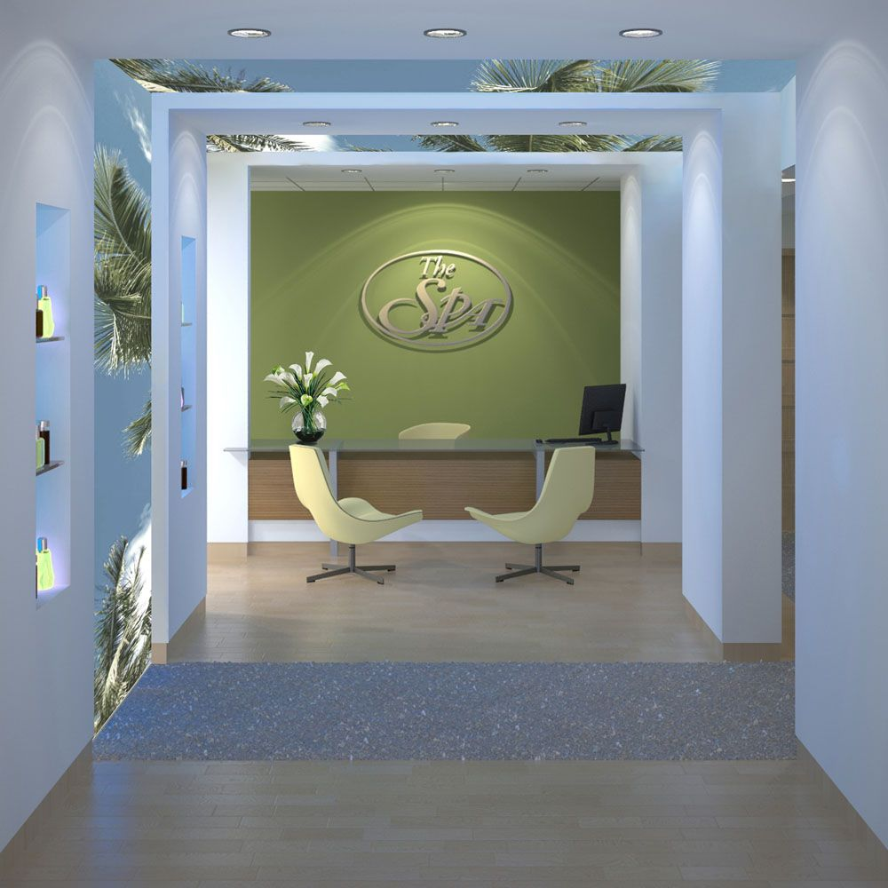 Spa office reception logo and lighting office ideas for A design and color salon