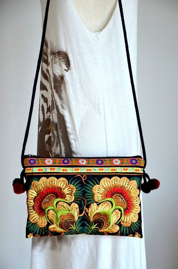 1668258b31f5 Hmong Ethnic Bag Chiang Mai Embroidered Purse Thai Hill Tribe Bag ...
