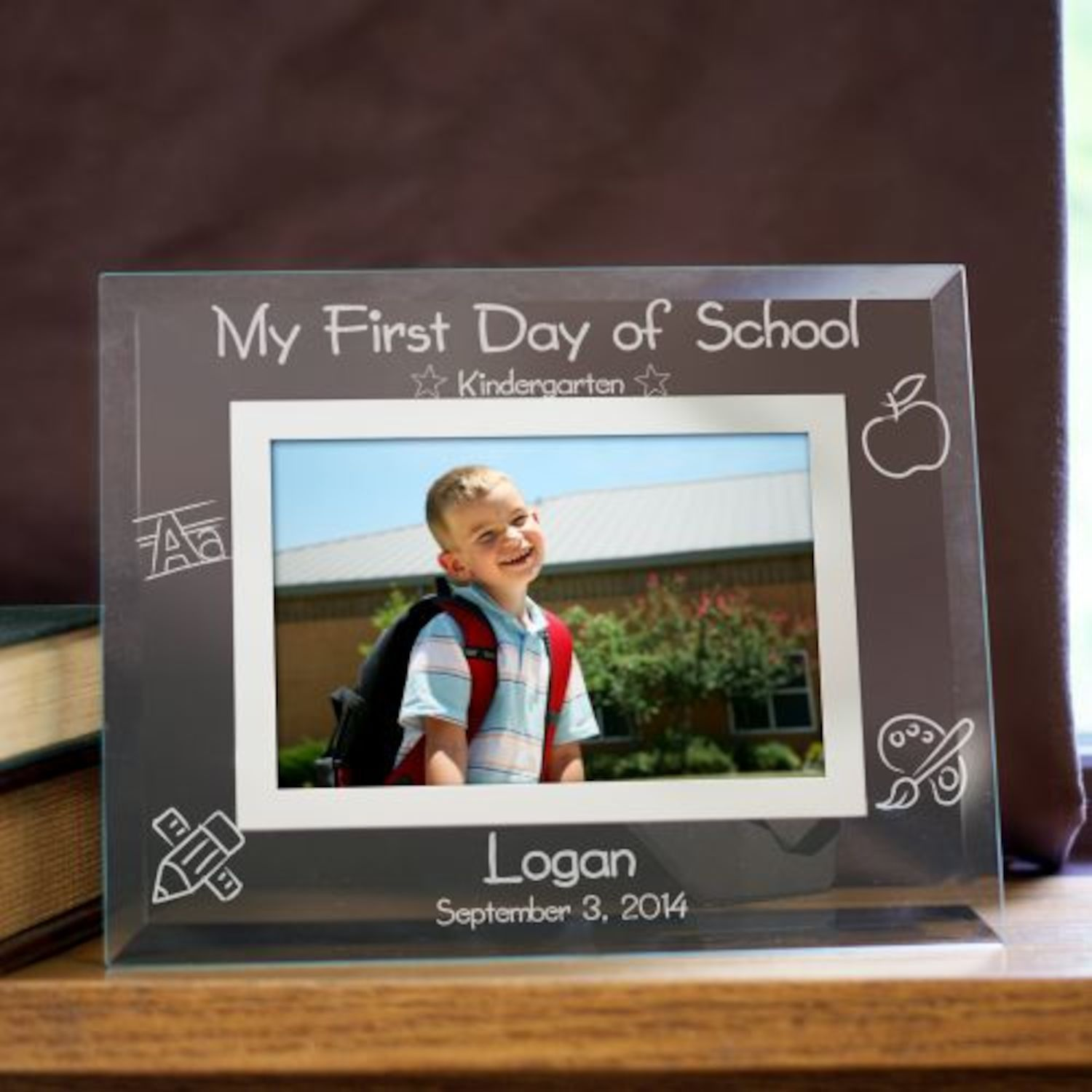 Personalized Engraved First Day of School Glass Picture Frame ...